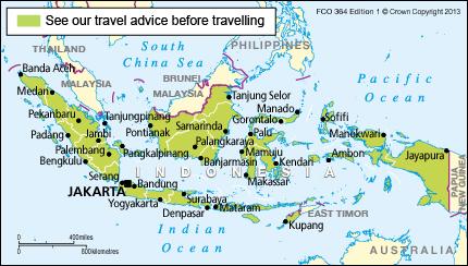 Indonesia Travel Advice GOVUK - Us travel alert map