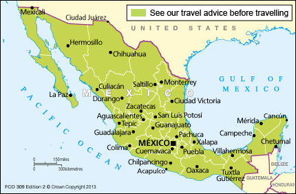 Mexico travel advice gov download map pdf publicscrutiny Gallery