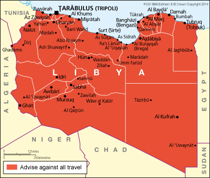 Libya travel advice gov download map pdf publicscrutiny Gallery