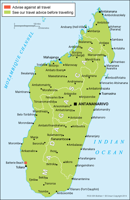 Madagascar travel advice GOVUK