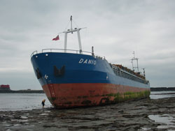 Danio-Vessel Aground