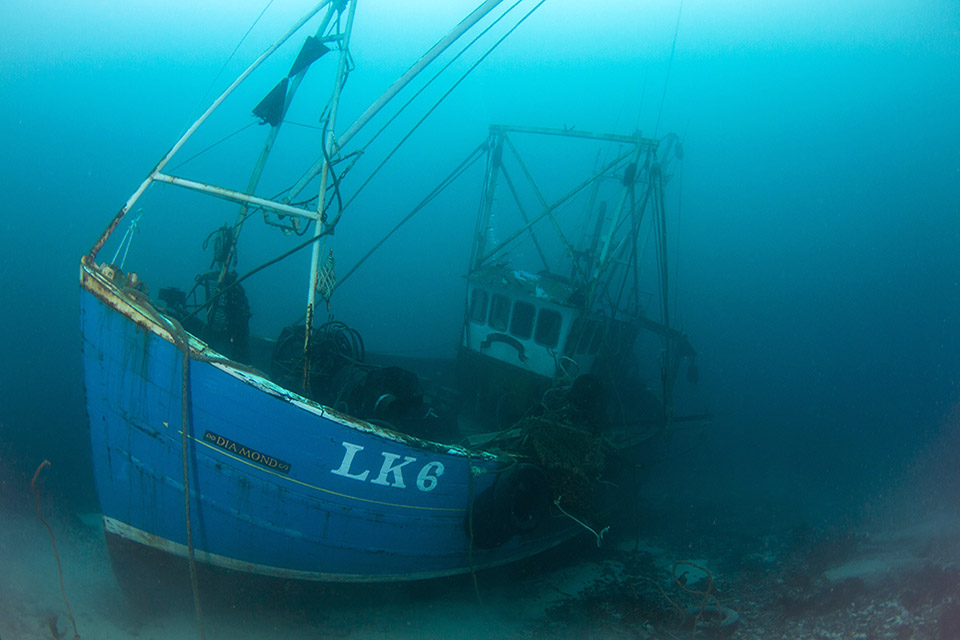 Underwater photograph of wreck