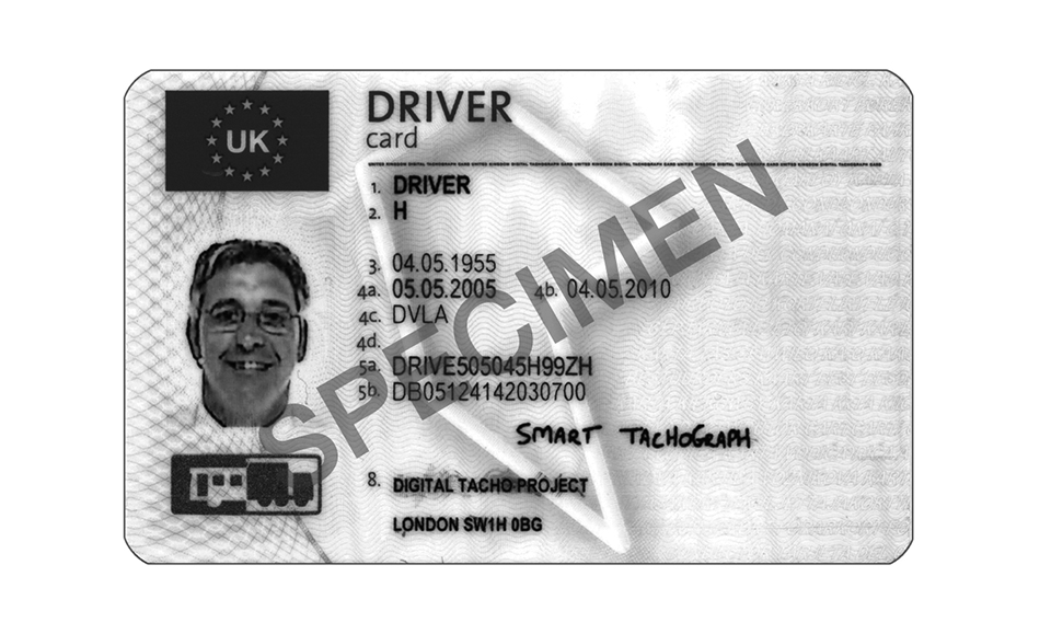 Digital tachograph card