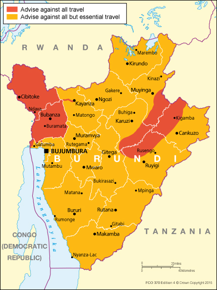 Burundi travel advice - GOV.UK