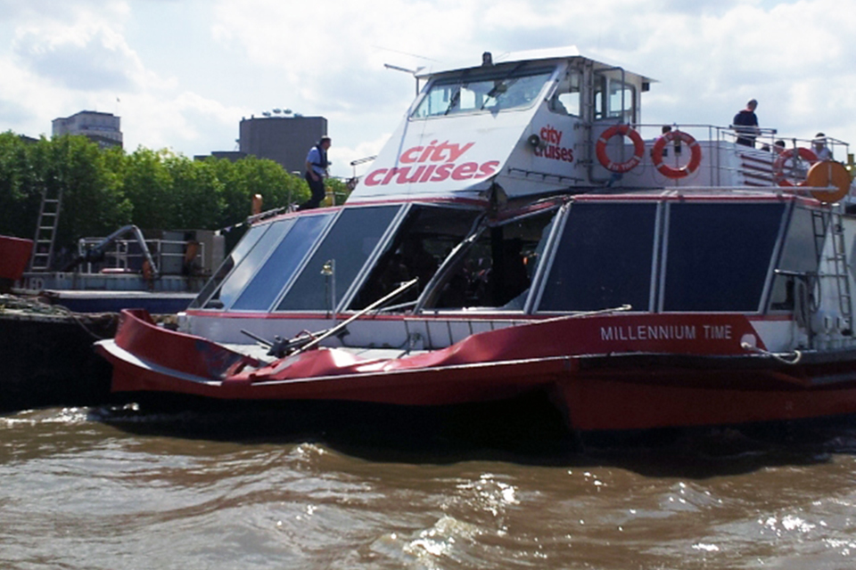 Damage to passenger vessel Millennium Time