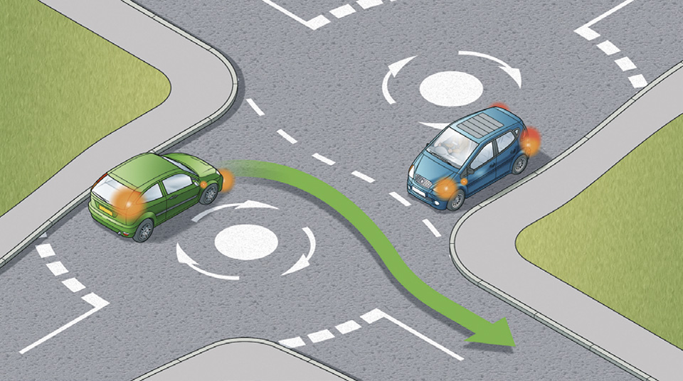 double roundabout rules