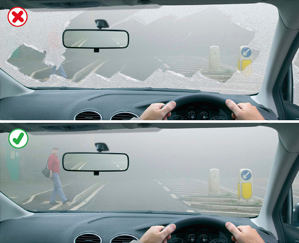 Rule 229: Make sure your windscreen is completely clear