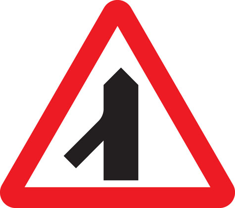Traffic merging from left ahead