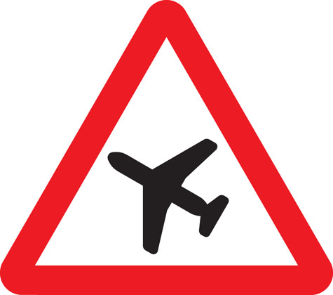 Low-flying aircraft or sudden aircraft noise