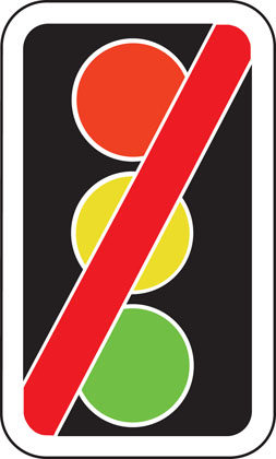 Traffic signals not in use