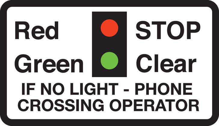 Miniature warning lights at level crossings