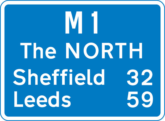 Route confirmatory sign after junction