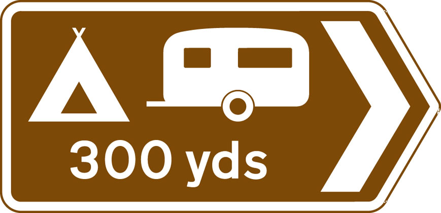 Direction to camping and caravan site