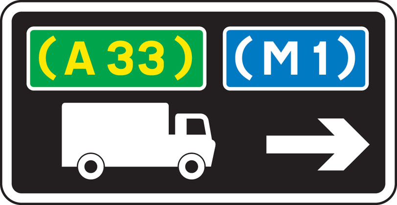 Advisory route for lorries