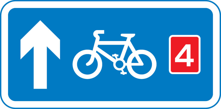 Route for pedal cycles forming part of a network