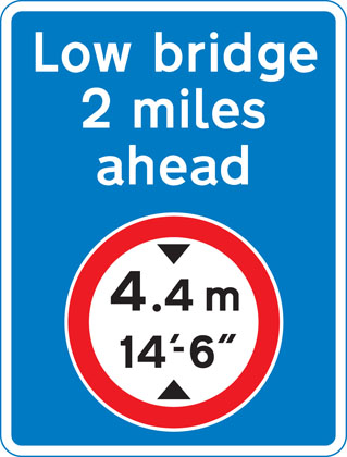 Advance warning of restriction or prohibition ahead