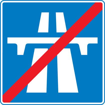 End of motorway