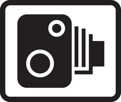 Area in which cameras are used to enforce traffic regulations