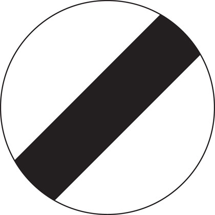 National speed limit applies