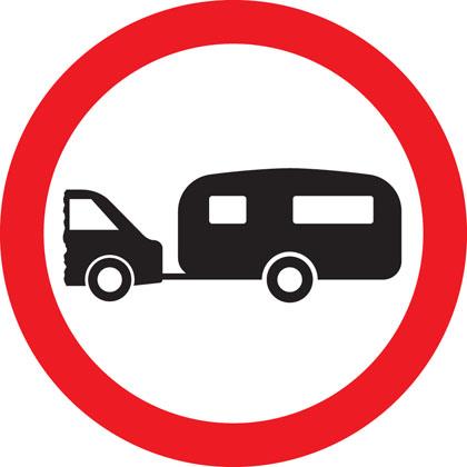 No towed caravans