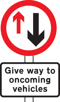 Give priority to vehicles from opposite direction