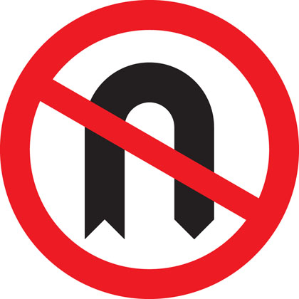 No U-turns