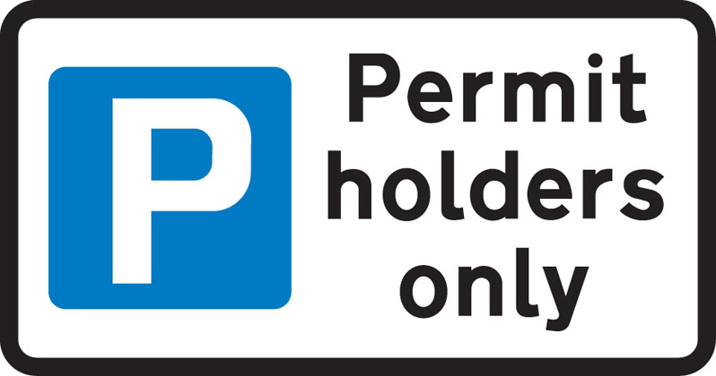 Parking restricted to permit holders