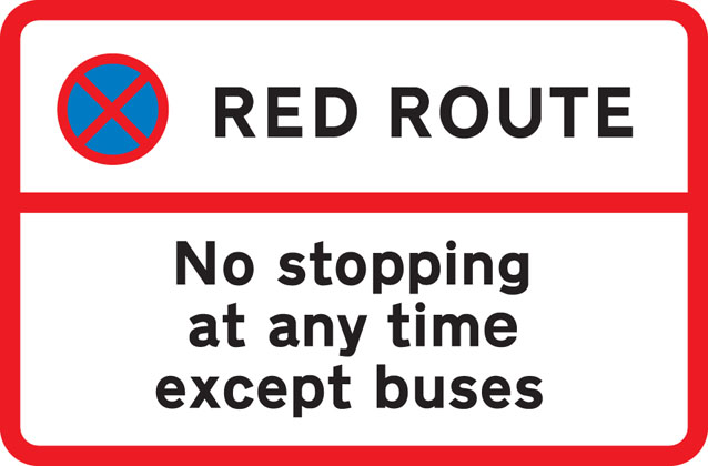 No stopping during period indicated except for buses