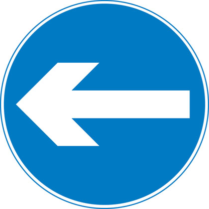 Turn left (right if symbol reversed)