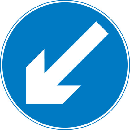 Keep left (right if symbol reversed)