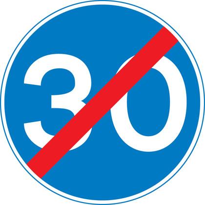 End of minimum speed