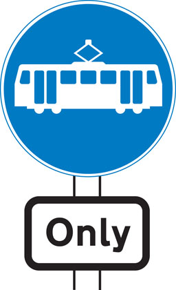 Trams only