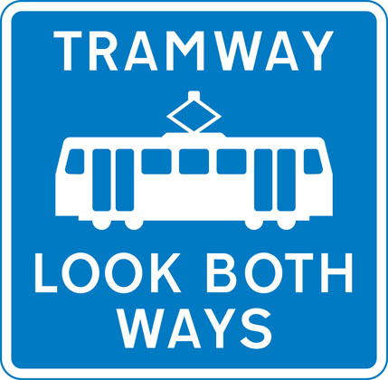 Pedestrian crossing point over tramway