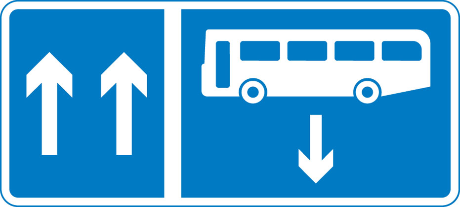 Contra-flow bus lane