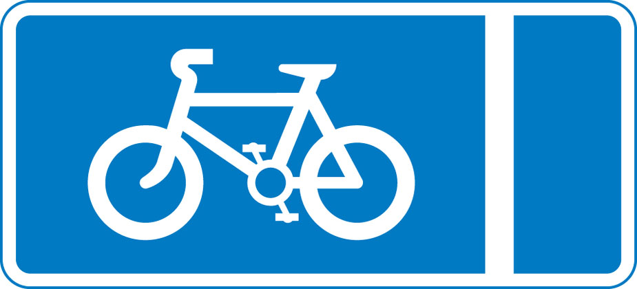 With-flow pedal cycle lane