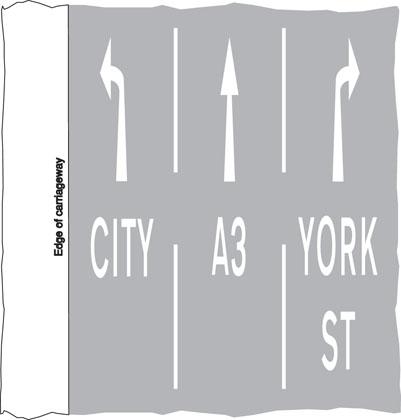 Indication of traffic lanes