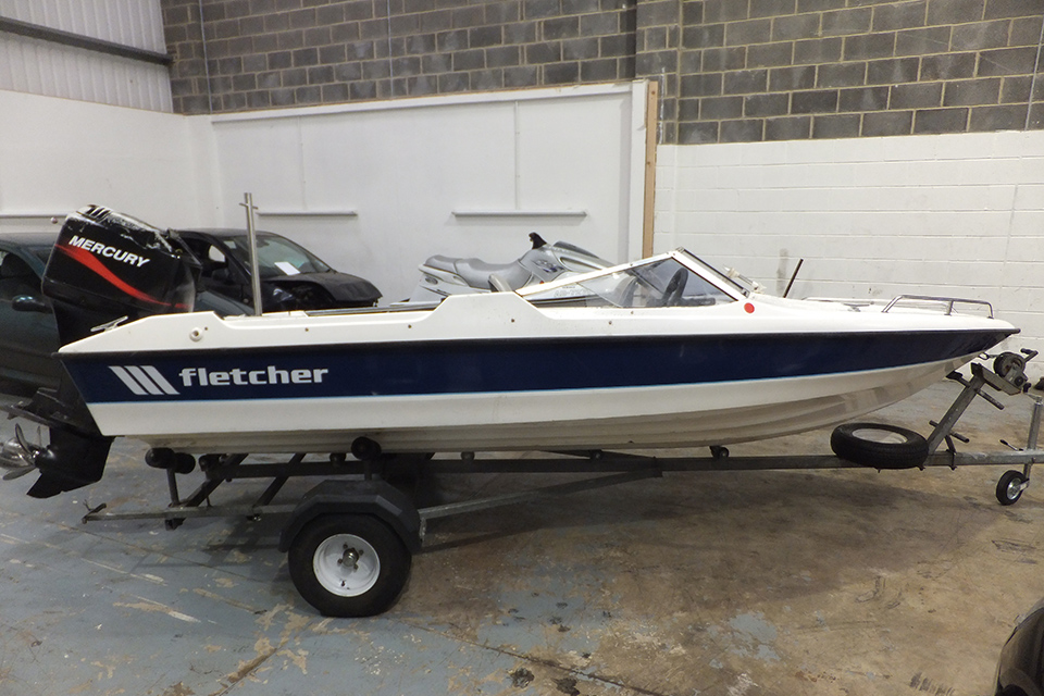 Fletcher 155 speedboat