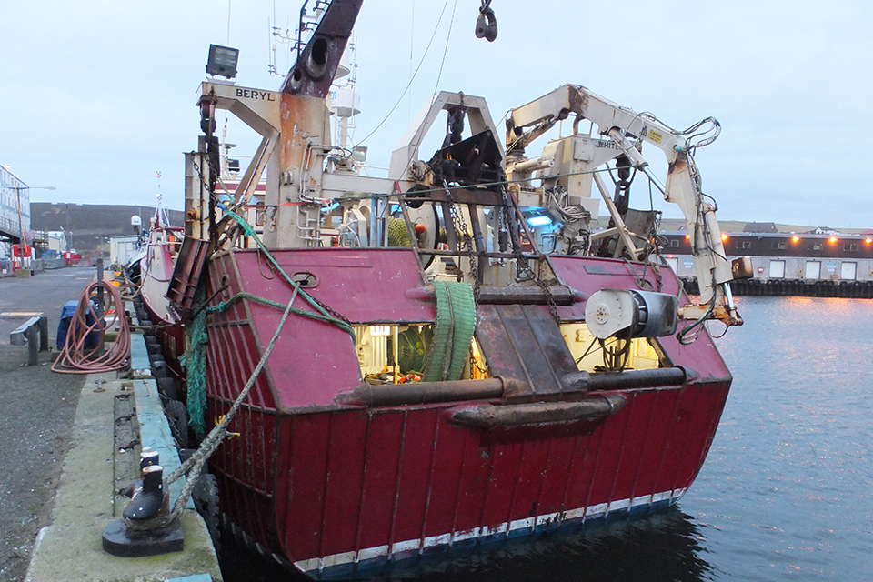 Photograph of twin rig trawler Beryl