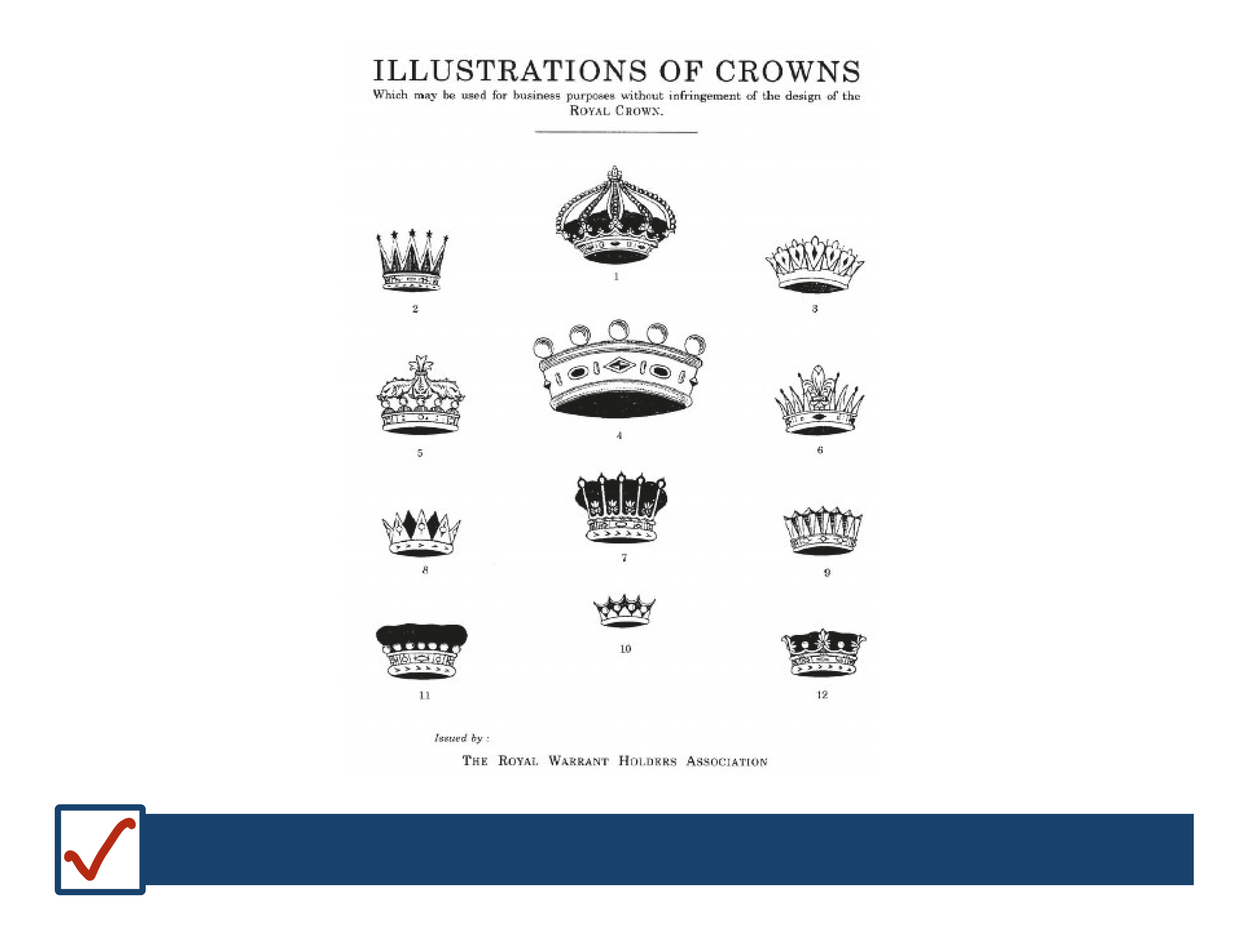 Illustrations of crowns