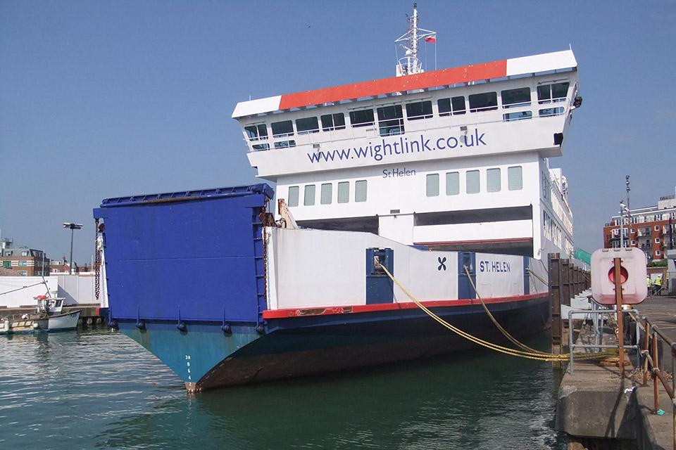 Passenger ferry St Helen alongside