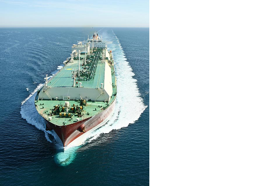 LNG carrier Zarga at sea