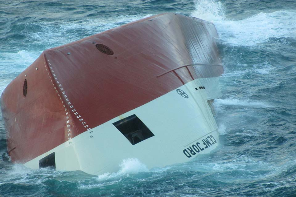 Cemfjord upturned hull