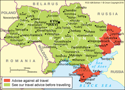 Ukraine travel advice - GOV.UK on tallinn russia map, crimean mountains russia map, caucasus mountains map, birmingham russia map, dushanbe russia map, dubrovnik russia map, crimean war russia map, leipzig russia map, vilnius russia map, russia landforms map, bosnia russia map, warsaw russia map, rovno russia map, simferopol russia map, zaporozhye russia map, astana russia map, geneva russia map, sevastopol russia map, donetsk russia map, komsomolsk russia map,