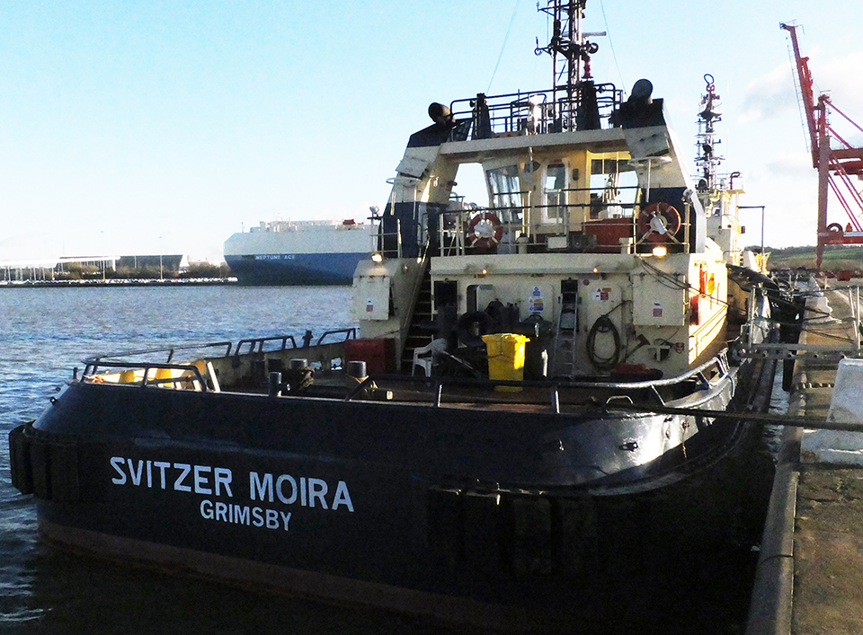 Photograph of the tug Svitzer Moira alongside