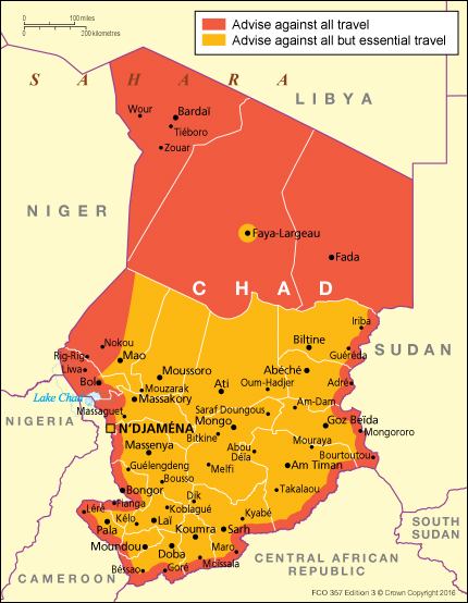 Image result for chad travel warning