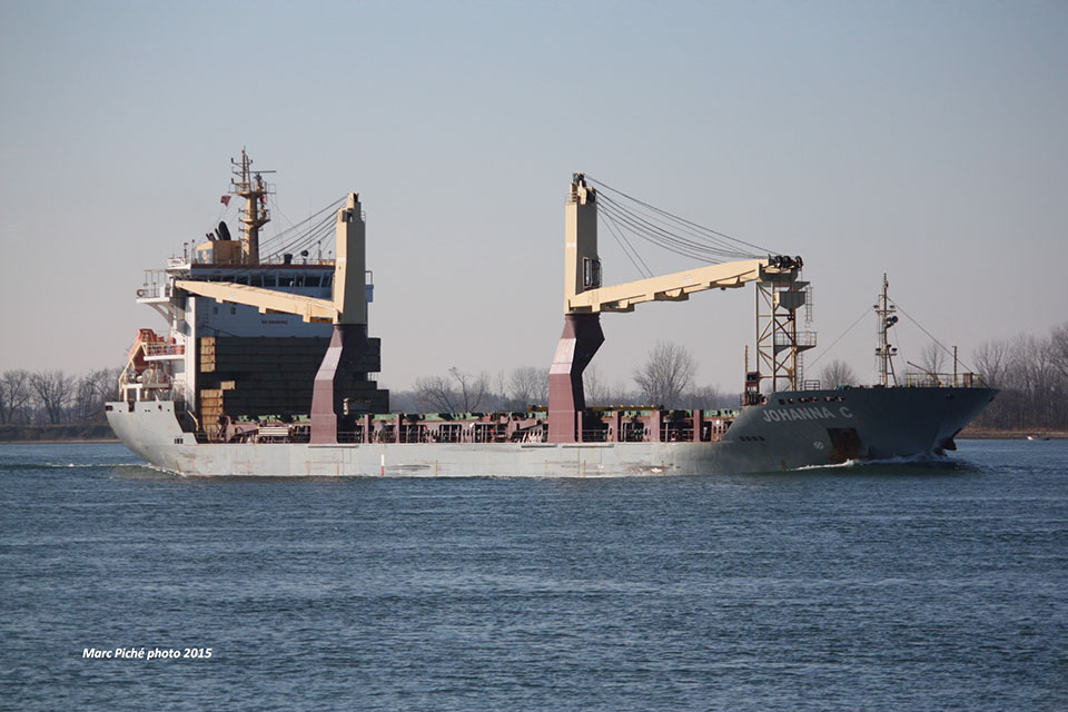 Photograph of general cargo vessel Johanna C (photo: Marc Piché, shipspotting.com)