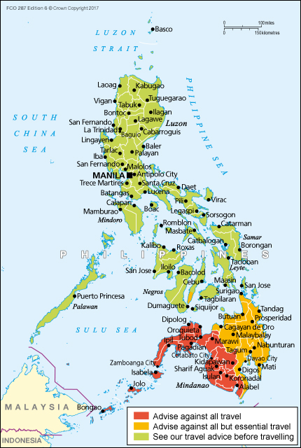 Philippines travel advice  GOVUK