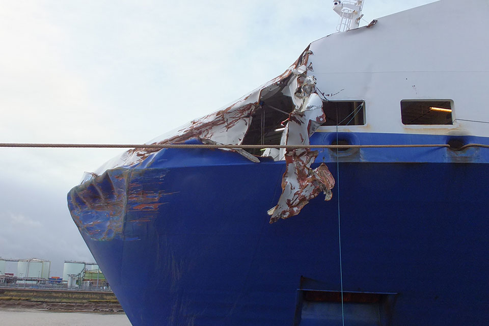 Exterior damage Primula Seaways