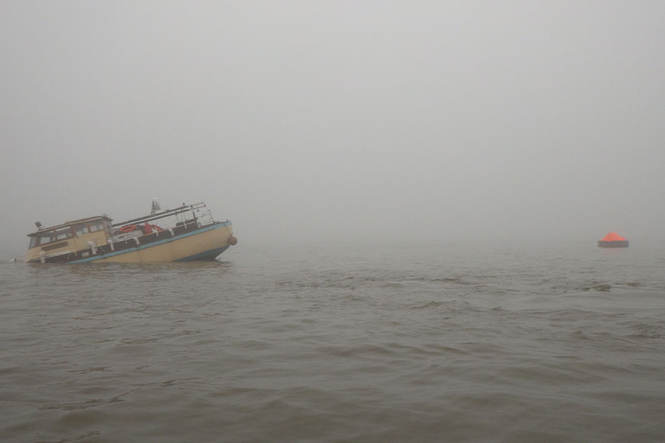 Peggotty following collision (image courtesy of RNLI Cleethorpes)