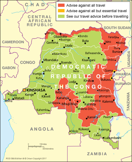 Democratic Republic of the Congo travel advice GOVUK